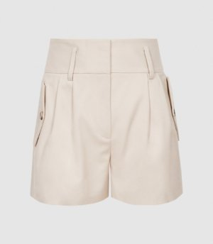 Reiss Brooklyn - Pocket Front Tailored Shorts in Neutral, Womens, Size 4
