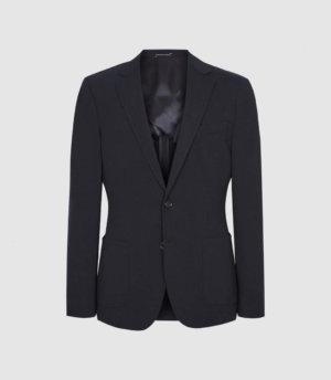 Reiss Flexo - Slim Fit Jersey-stretch Blazer in Navy, Mens, Size 36