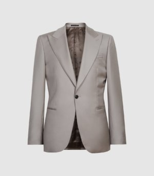 Reiss Hiked - Wool Slim Fit Blazer in Clay, Mens, Size 36