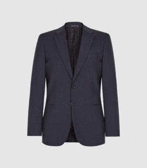 Reiss Hope - Modern Fit Travel Blazer in Navy, Mens, Size 34S