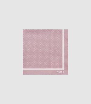 Reiss Jupiter - Silk Pocket Square in Dusty Pink, Mens