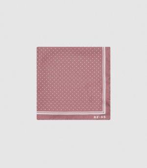 Reiss Jupiter - Silk Pocket Square in Pink, Mens