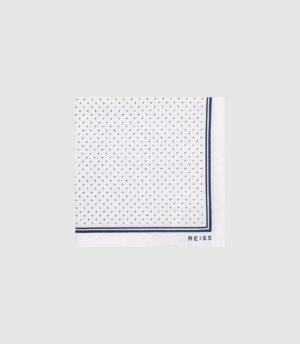 Reiss Jupiter - Silk Pocket Square in White, Mens