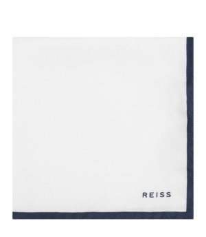 Reiss Moon - Silk Pocket Square in White, Mens