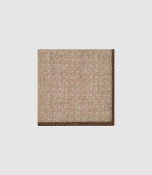 Reiss Naples - Wool Polka Dot Pocket Square in Oatmeal, Mens