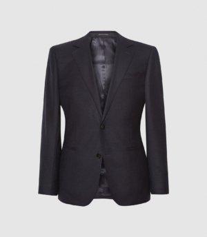 Reiss Player - Wool Slim Fit Blazer in Navy, Mens, Size 36