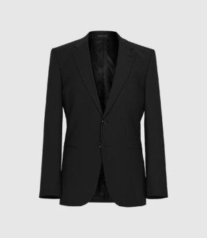 Reiss Pray - Slim Fit Travel Blazer in Black, Mens, Size 34S