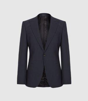Reiss Pray - Slim Fit Travel Blazer in Navy, Mens, Size 34S