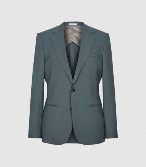 Reiss Refine - Wool Modern Fit Blazer in Sage, Mens, Size 36
