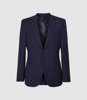 Reiss Rossini - Wool Blend Slim Fit Blazer in Navy, Mens, Size 36