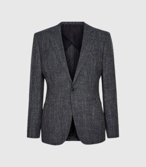 Reiss Seep - Slim Fit Basket Texture Blazer in Navy, Mens, Size 36