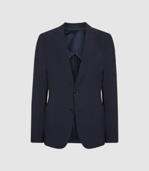 Reiss Static - Slim Fit Technical Blazer in Navy, Mens, Size 36