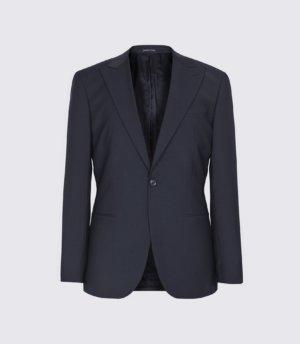Reiss Trust - Slim Fit Travel Blazer in Navy, Mens, Size 34S