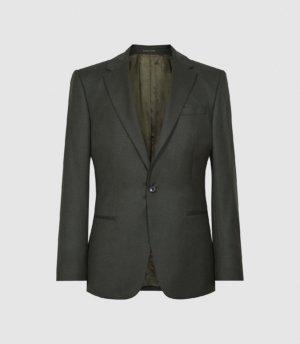Reiss Valley - Wool Slim Fit Blazer in Dark Green, Mens, Size 36