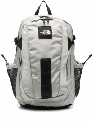 The North Face logo patch panelled backpack - Grey