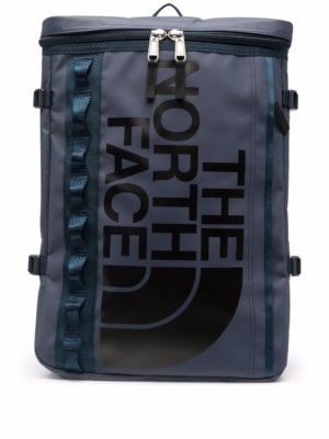 The North Face logo-print backpack - Blue
