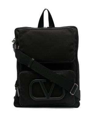 Valentino Garavani Supervee one-strap backpack - Black