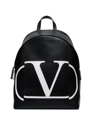 Valentino Garavani VLOGO print backpack - Black