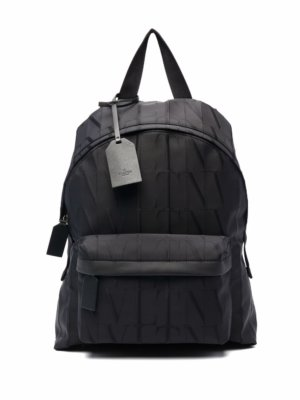 Valentino Garavani VLTN TIMES logo-jacquard backpack - Black