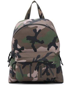 Valentino Garavani VLTN camouflage backpack - Green