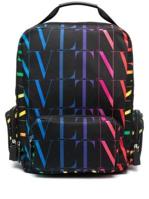 Valentino Garavani VLTN logo-print backpack - Black