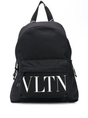 Valentino Garavani VLTN print backpack - Black