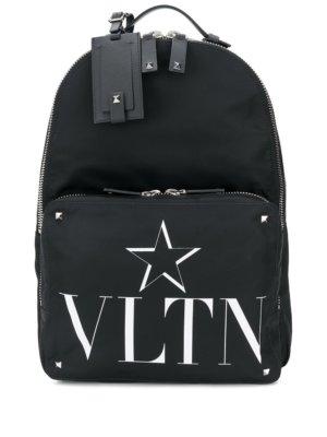 Valentino Garavani VLTNSTAR print backpack - Black