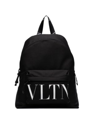Valentino Garavani large logo print backpack - Black