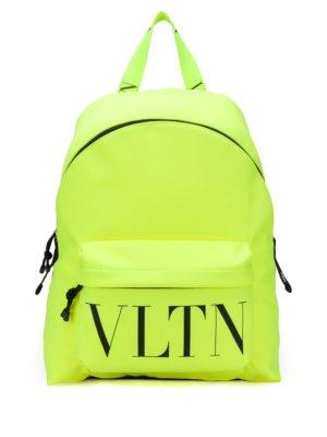 Valentino Garavani nylon VLTN logo print backpack - Yellow