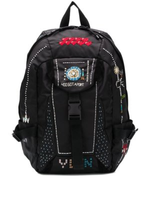 Valentino Garavani patchwork functional backpack - Black